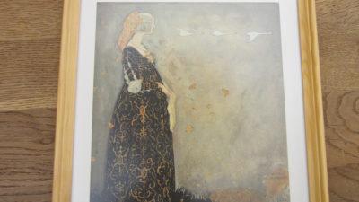 Reproduktion av illustration av John Bauer till Svanhamnen av Helena Nyblom
