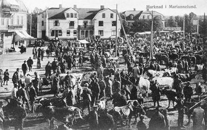 Marknad i Mariannelund - Jönköpings läns museumJönköpings läns museum