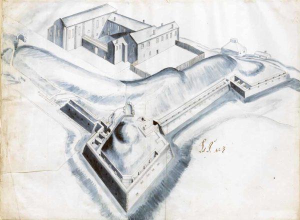 Skiss över Jönköping slott