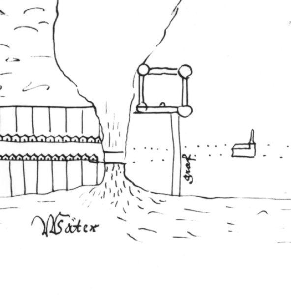 Teckning av Jönköping slott