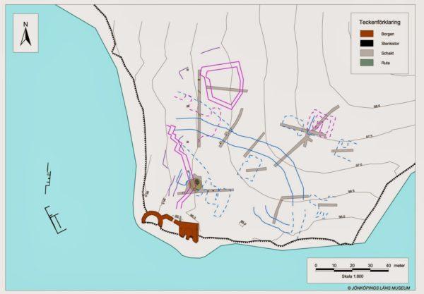 Karta över Utpost Visingsö