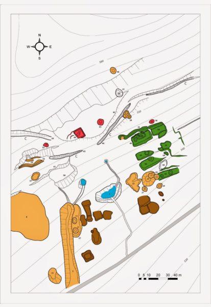 Karta över den ödelagda byn Bukov