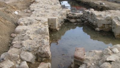 Utgrävning av romerskt bad, Jönköpings slott
