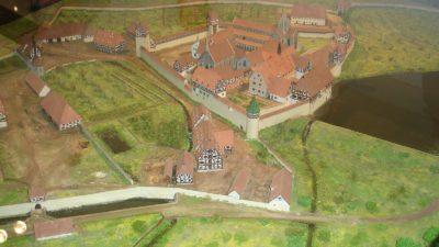 Modell av cistercienserklostret Bebenhausen i Tyskland.