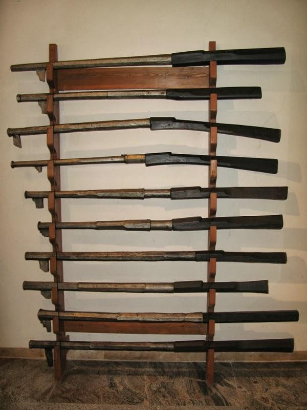 Ett ställ med gevär