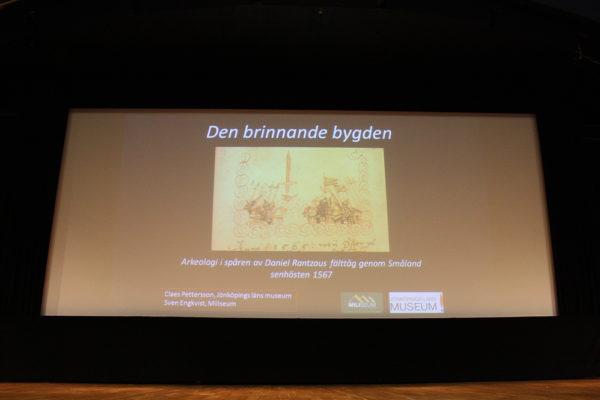"Presentationen med titeln: ""Den brinnande bygden""."