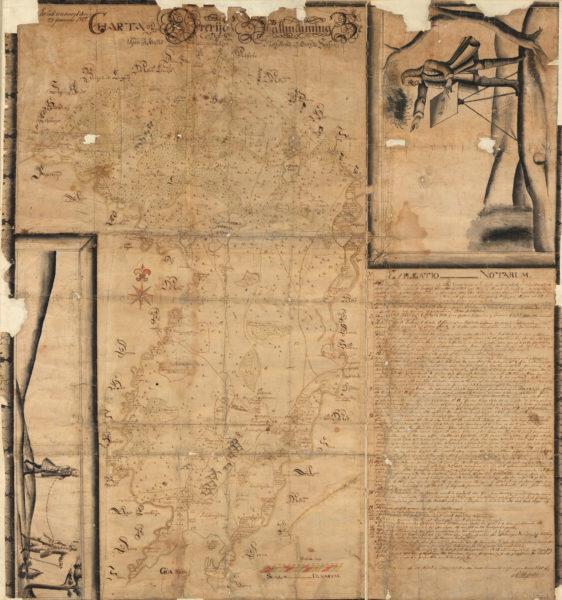 Kartan över Öreryds allmänningsmark från 1735 bjuder på oväntat möte med människor i marginalen.