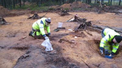 Överblick över utgrävning