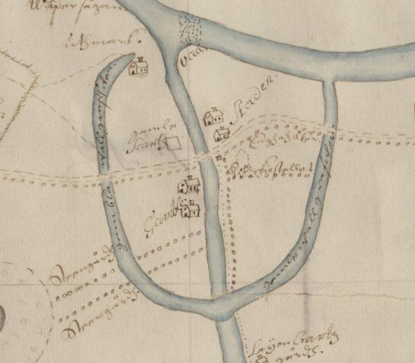 Karta över stadstomten