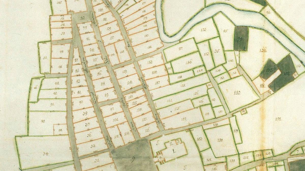Den äldsta bevarade kartan över Eksjö