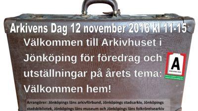 Information om Arkivens Dag den 12 november