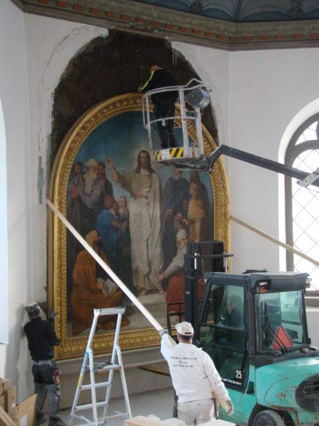 Nedsänkningen av målning i Ås kyrka