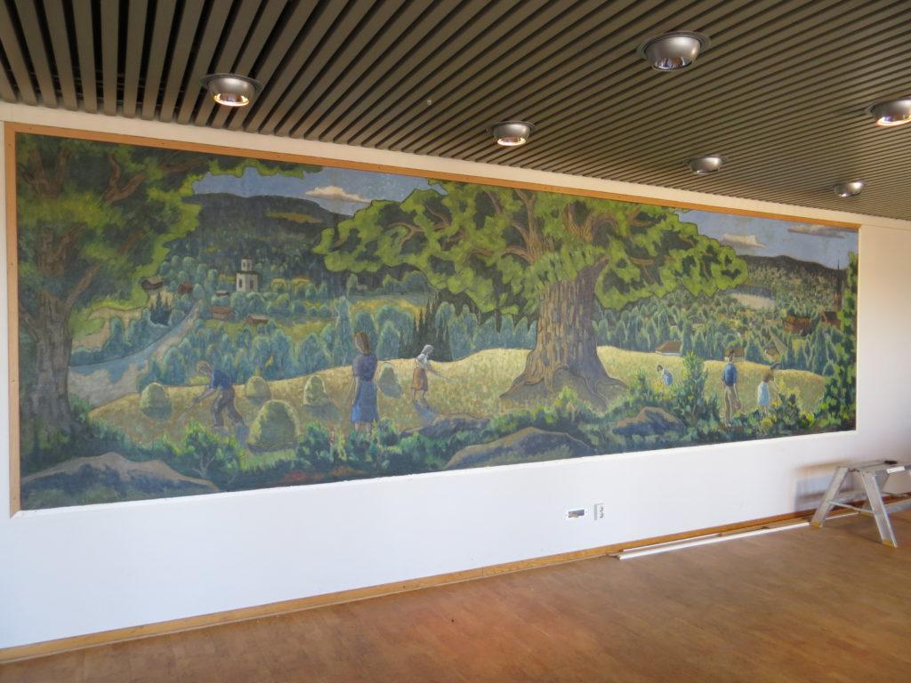 Målningen Nässjö och Bygden.