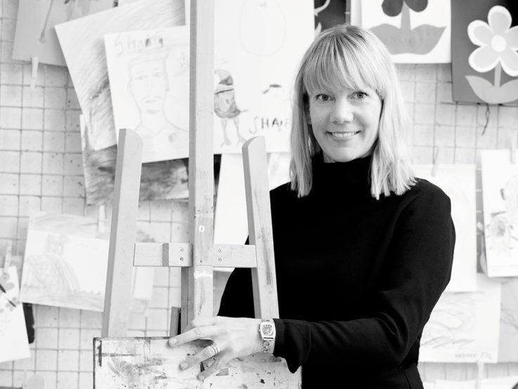Svartvit bild på Josefin Ottosson.