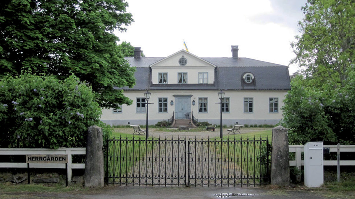 Herrgårdsbyggnaden från 1780-talet.