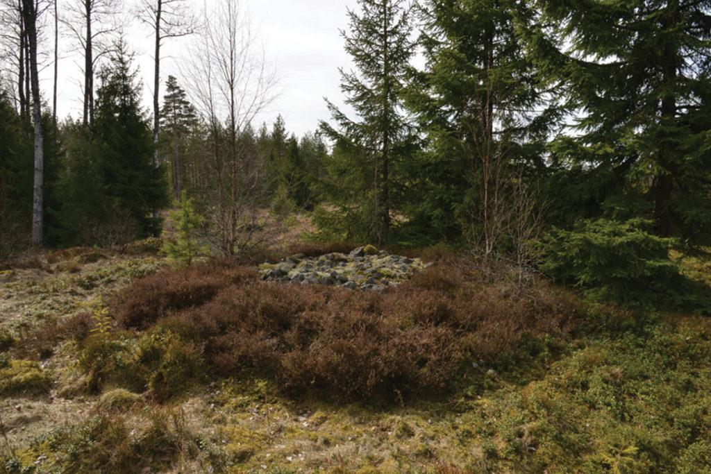 Stensättning på gravfältet norr om Kyrkestaden. Foto Jönköpings läns museum.