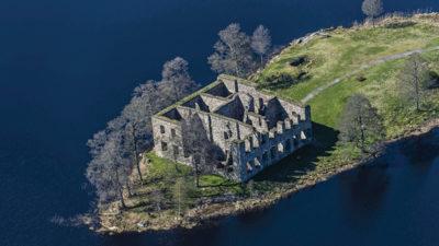 Ruinen efter 1600-talsslottet.