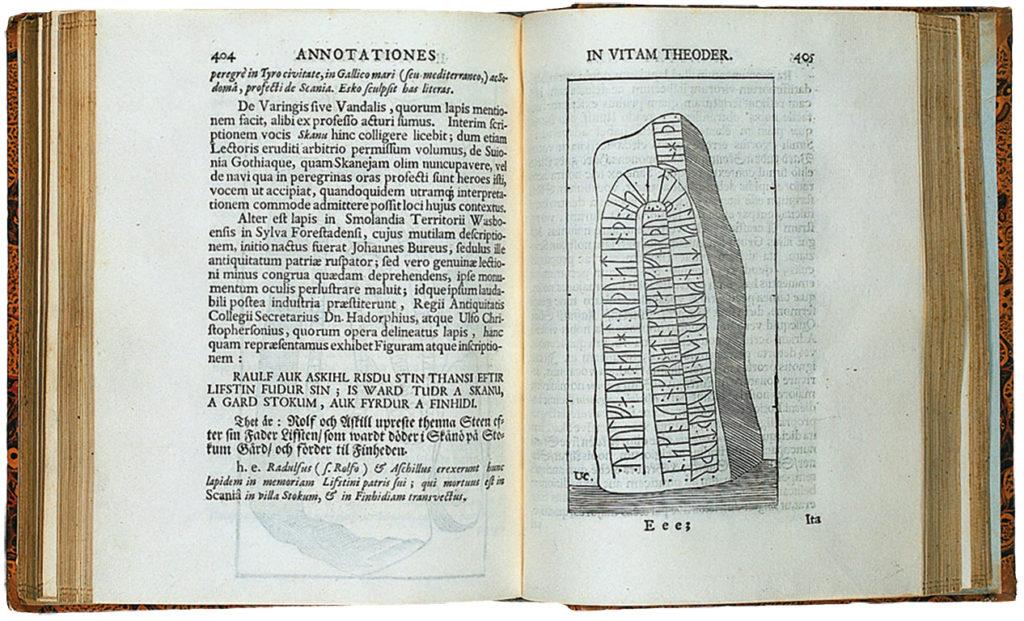 Runsten vid Forsheda i bok från 1699.