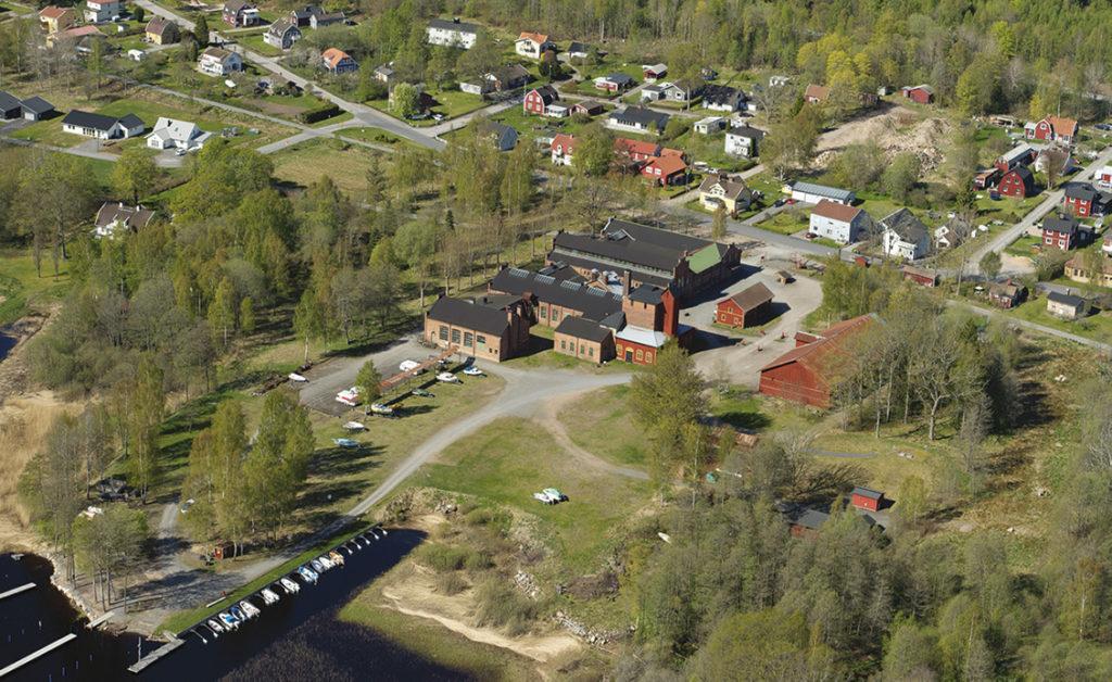 Flygbild över Åminne Bruk