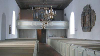 Interiörbild från Bredestads kyrka.