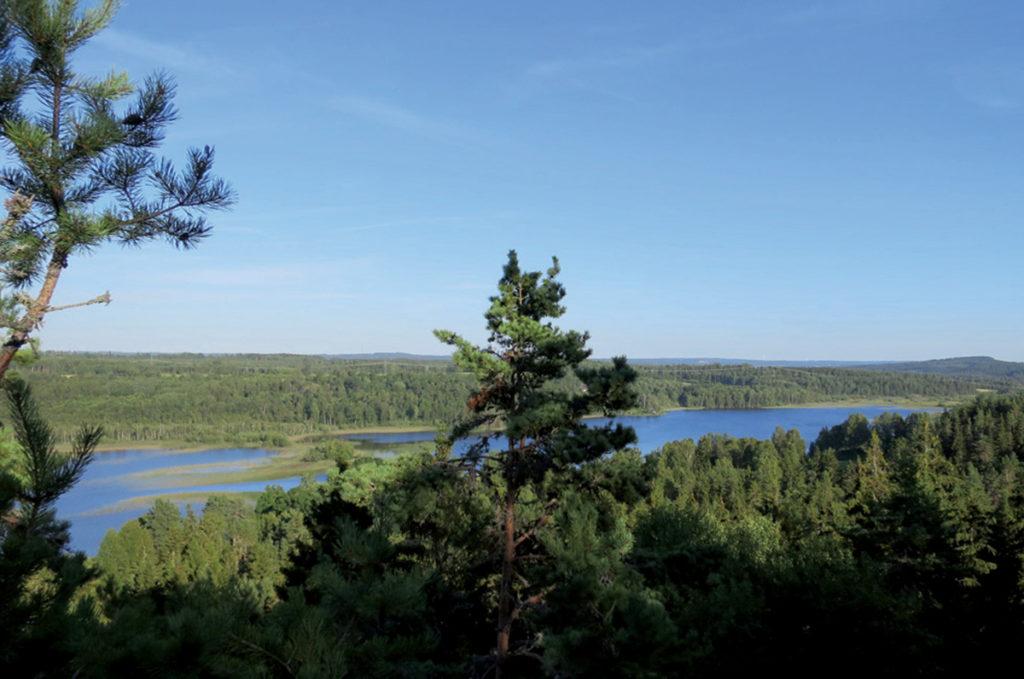 Utsikt från fornborgen över sjön Noen.
