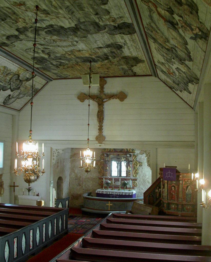 Interiör från Haurida kyrka.
