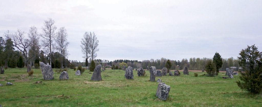 Gravfälten vid Ryningsholm.
