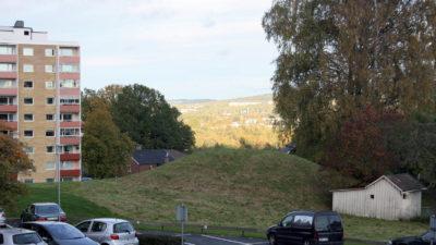 Utsikt från Domarkullen på Gräshagen mot öster.