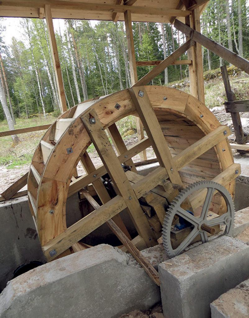 Det nya vattenhjulet.