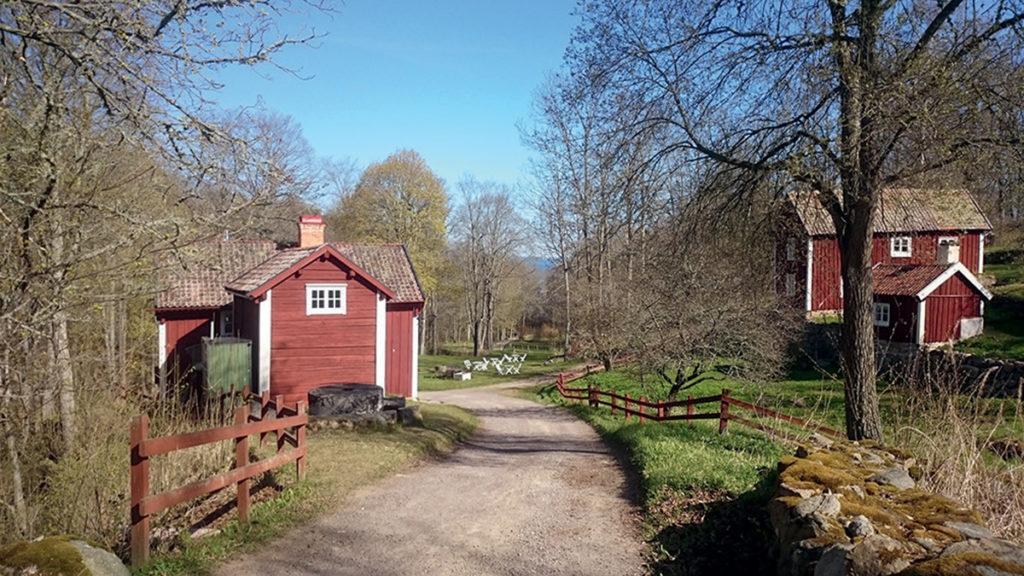 Bild av de äldre gårdarna.