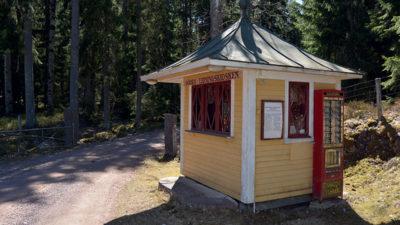 Tidningskiosk från 1920-talet.