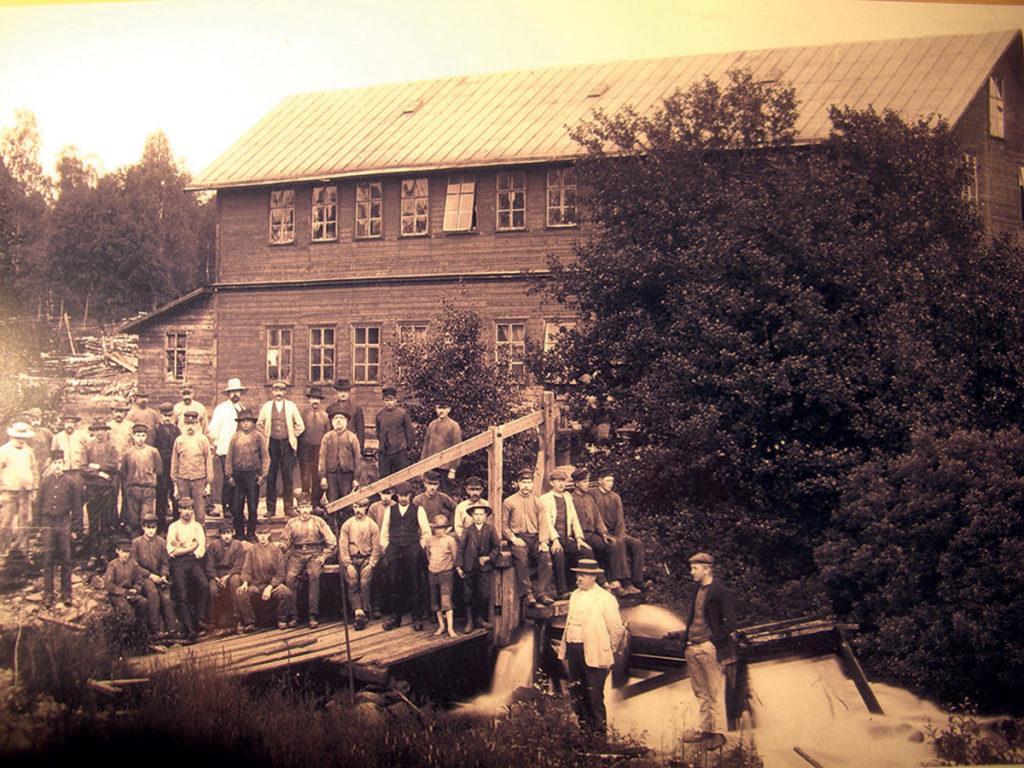 Hagafors stolfabrik år 1906.
