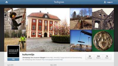 Skärmdump från kulturmiljös Instagram.