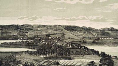 Bild över Jönköping från dess östra sida.