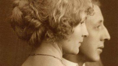 Profilbild av en kvinna och en mans ansikten. Kvinnan har håret uppsatt.