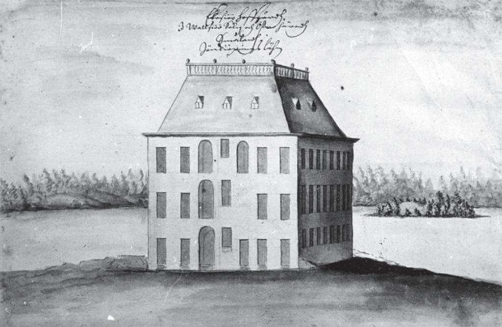 Erik Dahlbergs teckning av slottet kring 1680.