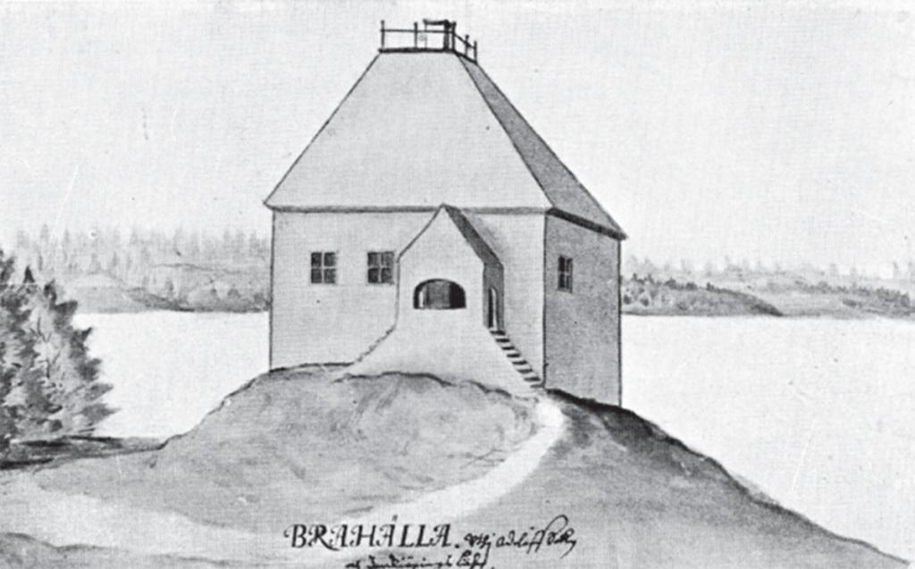 Erik Dahlbergs teckning av slottet.