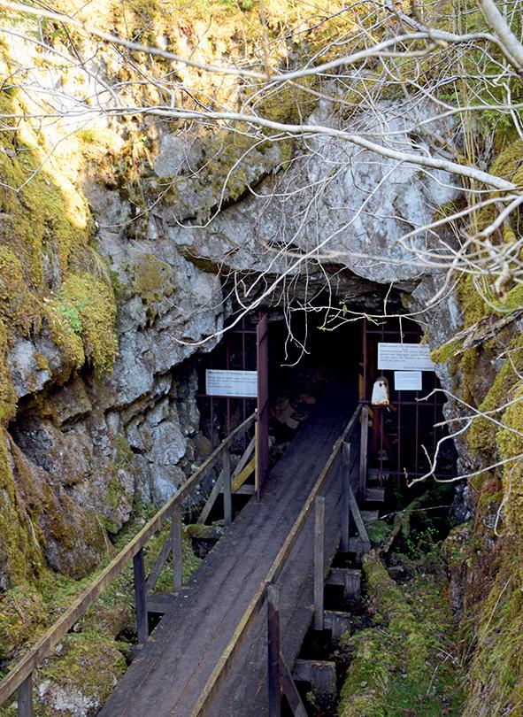 Foto av skiffergruvan.