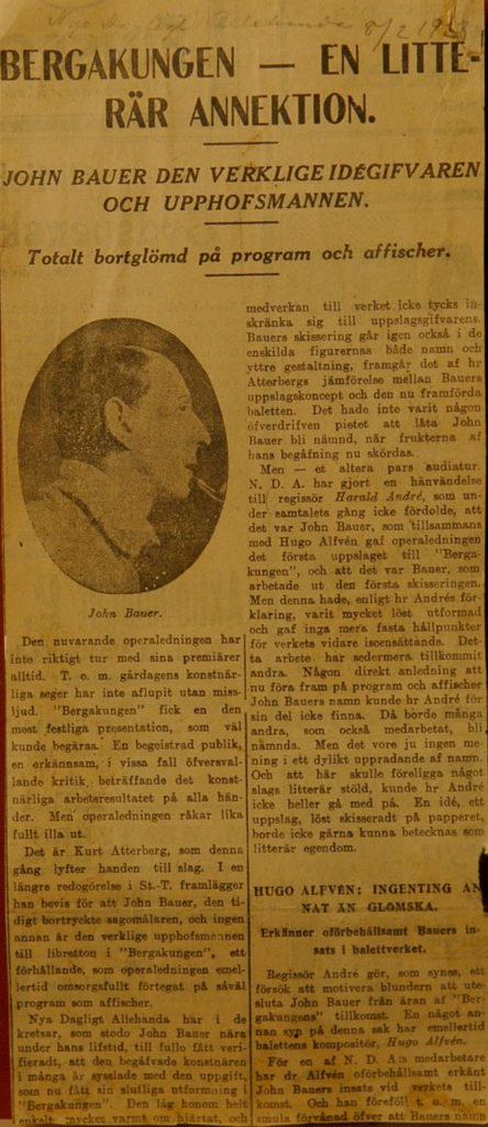 Utdrag från en gammal tidningsartikel.