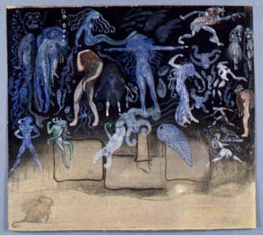 Målning på olika varelser.