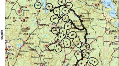 Karta på områden där arkeologer är och arbetar.