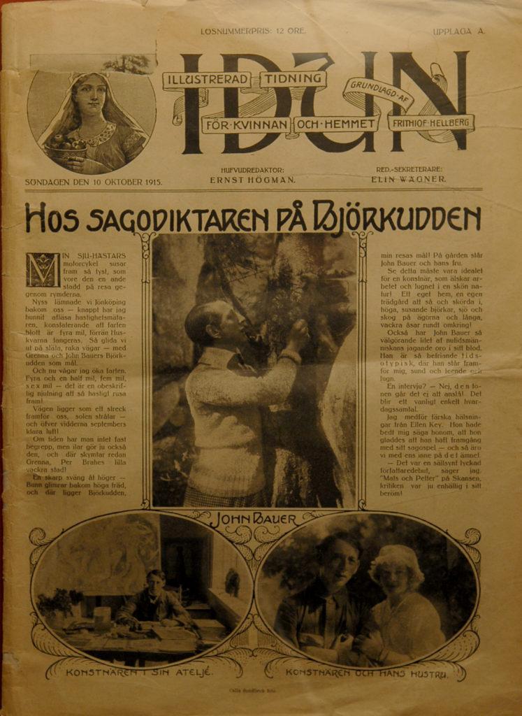 Tidningsartikel om sagodiktaren.