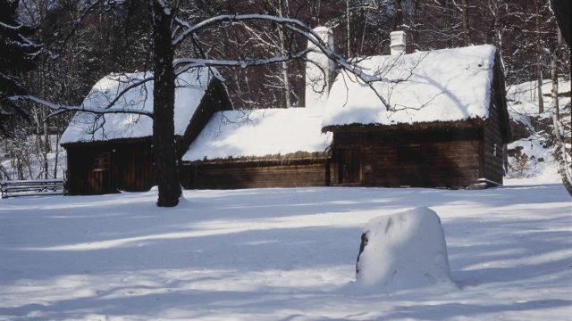 Ryggåsstugan som tillhör friluftsmuseet i Jönköpings stadspark