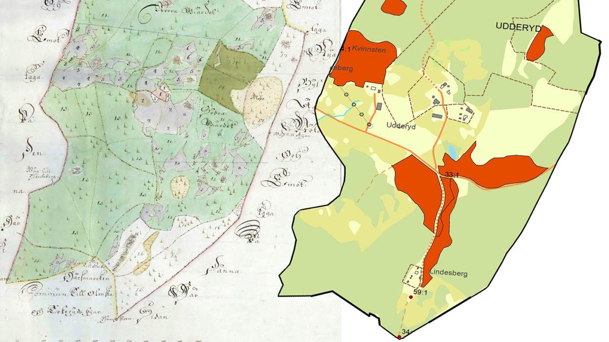 En äldre kartbild.