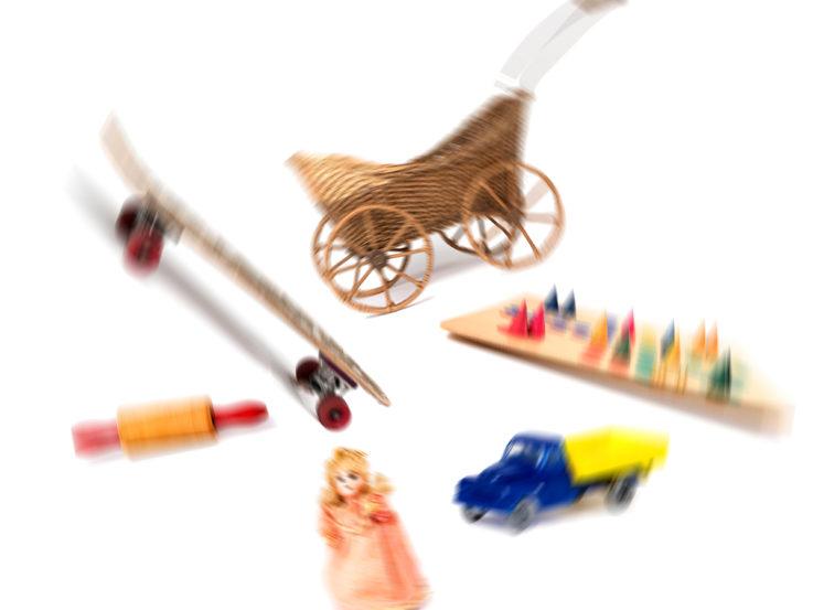 leksaker i oskärpa