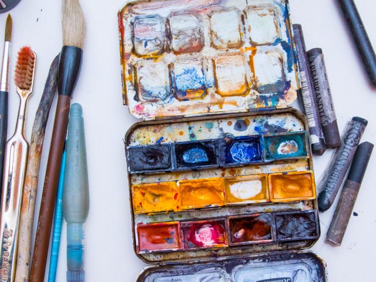Penslar och färger