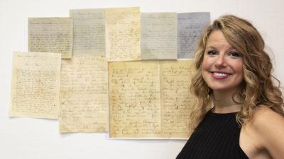 Sarah Billengren, ansvarig för projektet med avskrifter av familjen Bauers brevsamling.