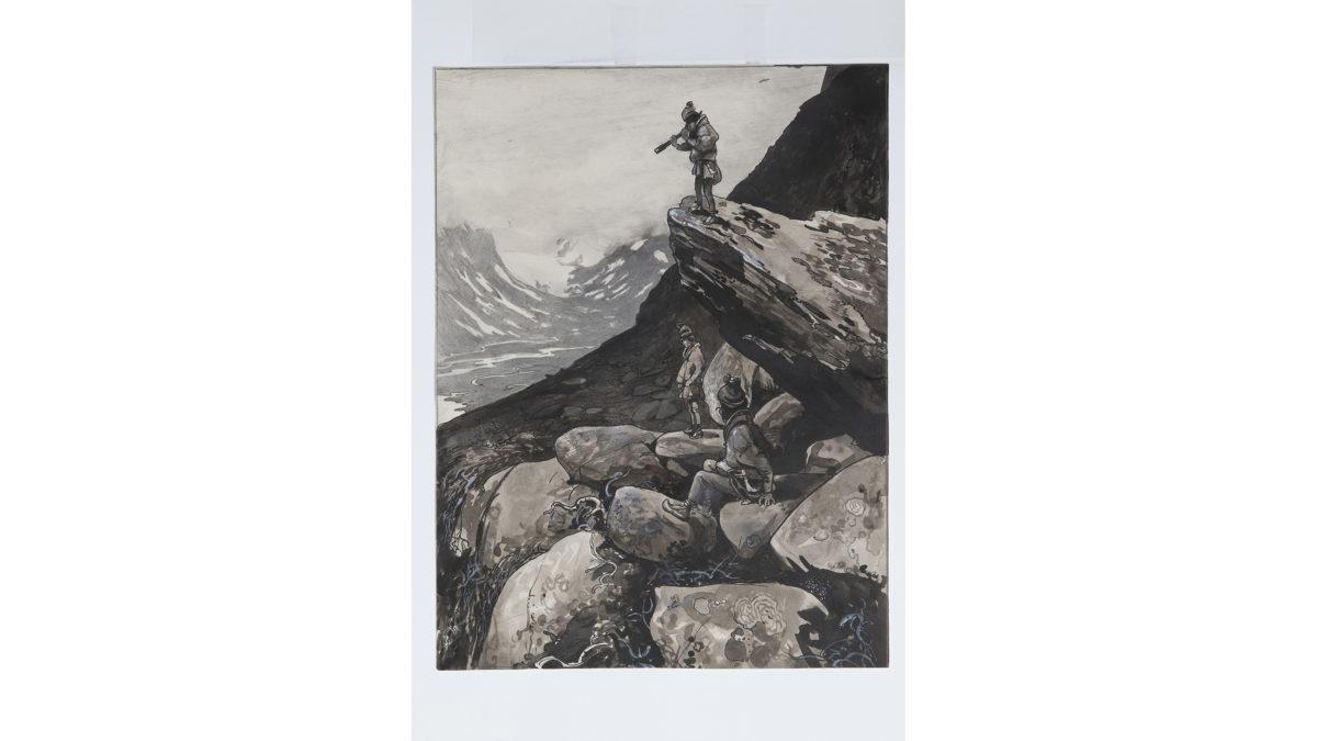 Samepojkar i höglänt terräng, John Bauer