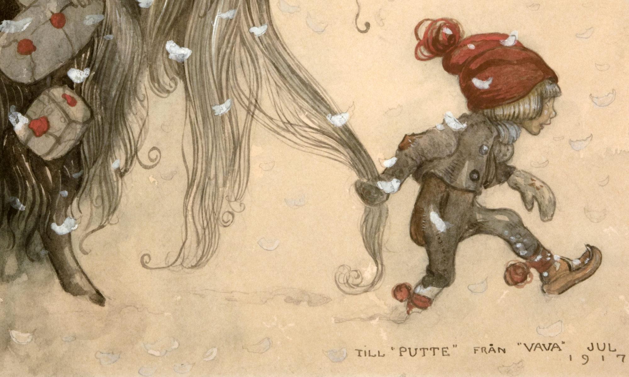 Julbocken, akvarell av John Bauer