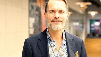 Porträtt av museichef Johan Gärskog